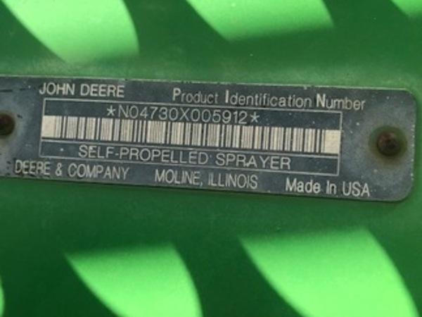 2009 John Deere 4730 Self-Propelled Sprayer