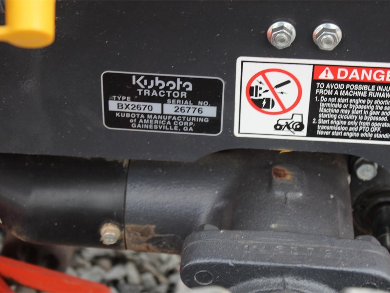 2016 Kubota BX2670 Tractor