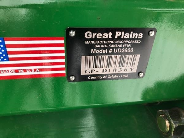 2019 Great Plains UD2600 Disk