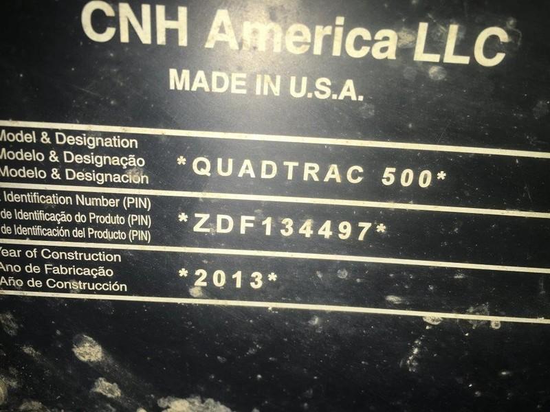 2013 Case IH Steiger 500 QuadTrac Tractor