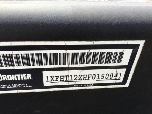 2015 Frontier HT1242 Header Trailer