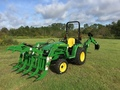 2018 John Deere 3025E TLB WITH GRAPPLE Under 40 HP