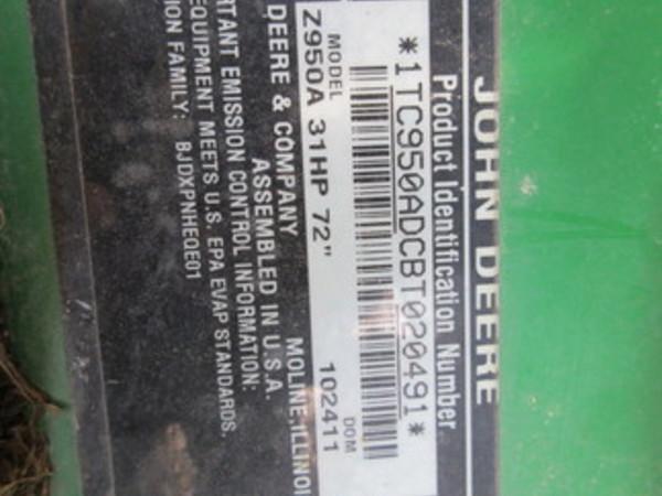 2012 John Deere Z950A Lawn and Garden