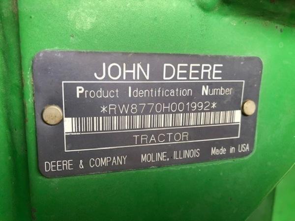 1994 John Deere 8770 Tractor