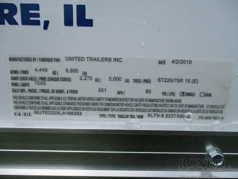 2020 United XLTV-8.523TA50-S Box Trailer