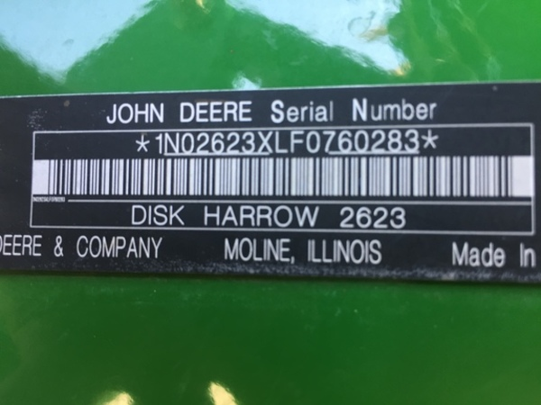 2015 John Deere 2623 Disk