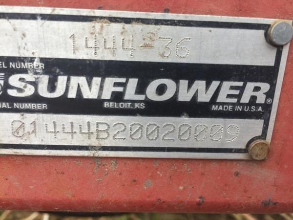 2002 Sunflower 1444-36 Disk