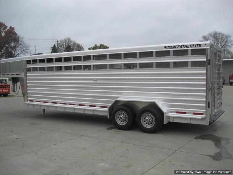 2020 Featherlite 8127 7' X 24' GN ALUM. STOCK TRAILER Livestock Trailer