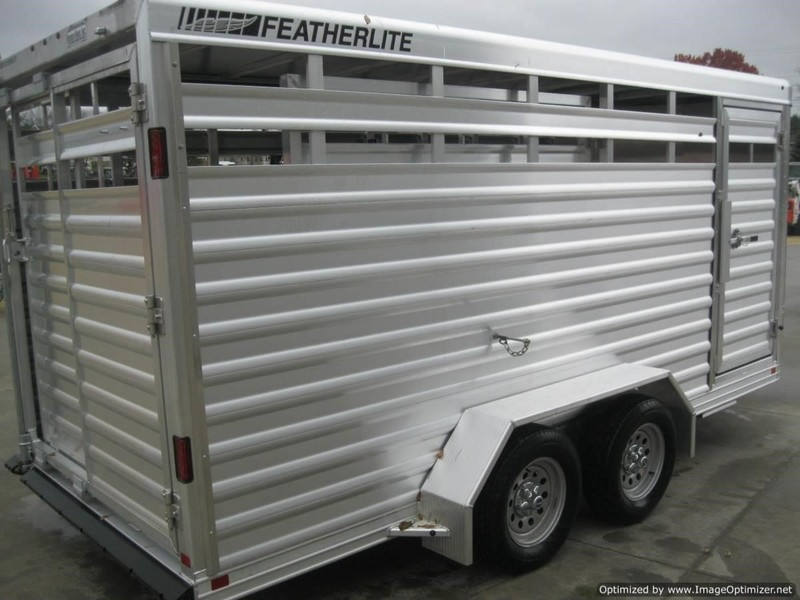 "2020 Featherlite 8107 6'7"" X 16' BP ALUM. STOCK TRAILER Livestock Trailer"