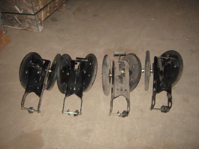 2013 White angled rubber closing wheels Planter and Drill Attachment