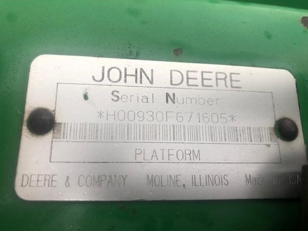 1997 John Deere 930F Platform