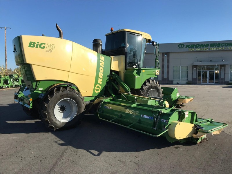2014 Krone Big M 420CV Self-Propelled Windrowers and Swather