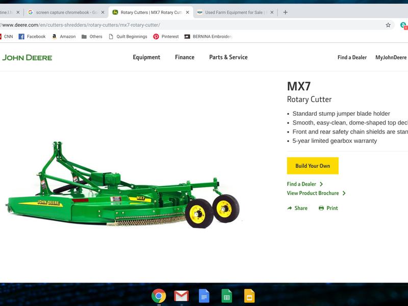 2016 John Deere MX7 Rotary Cutter
