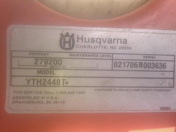 2006 Husqvarna YTH2448T Lawn and Garden