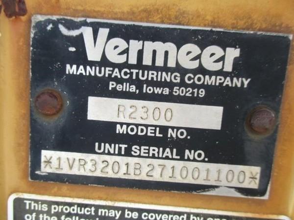 Vermeer R2300 Rake