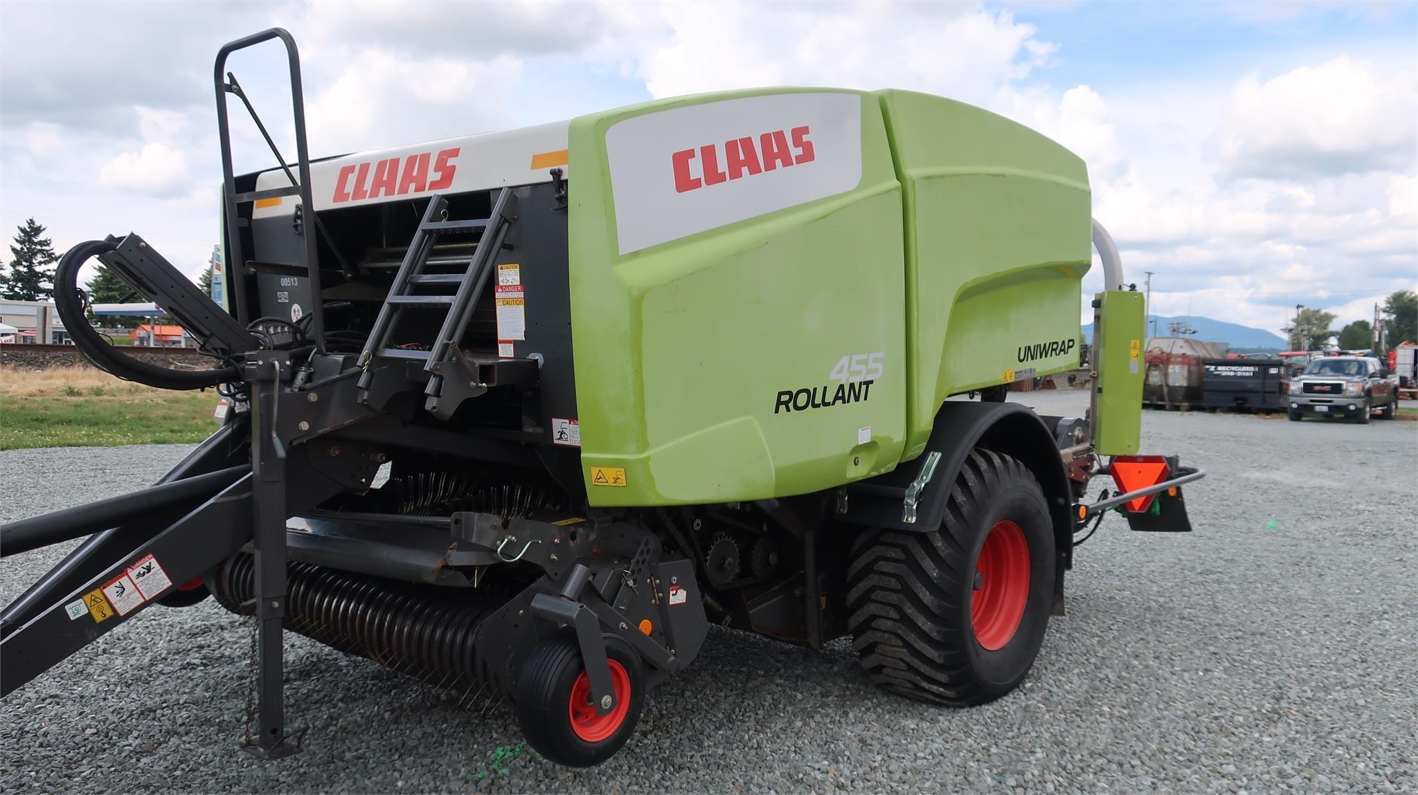 2015 Claas Rollant 455 Uniwrap Round Baler
