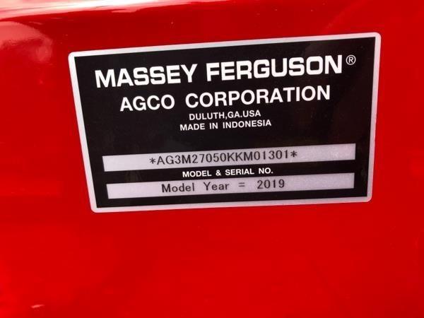 2019 Massey Ferguson 2705EH Tractor