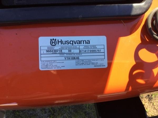 2017 Husqvarna YTH18K46 Lawn and Garden