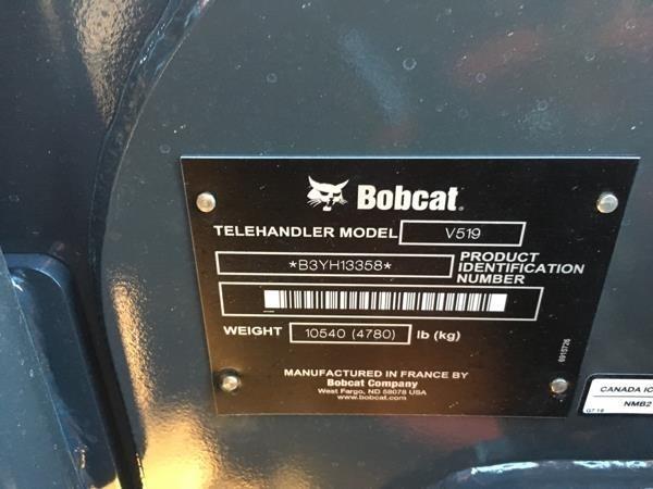 2018 Bobcat V519 Telehandler