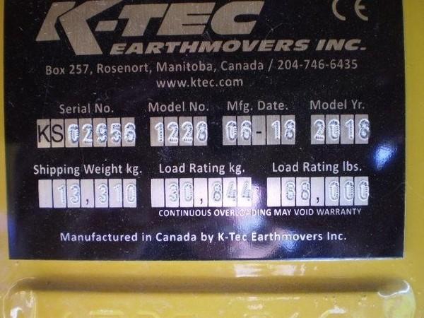 2018 K-Tec 1228 Scraper