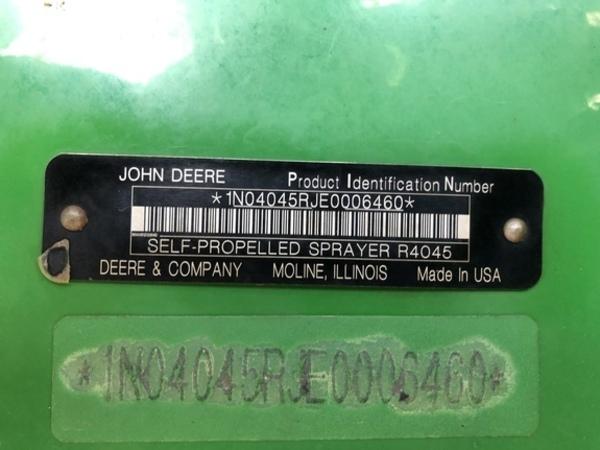 2015 John Deere R4045 Self-Propelled Sprayer