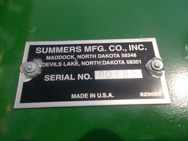 2016 Summers Manufacturing RH8430 Land Roller