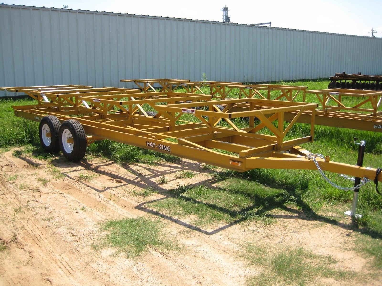 2019 Hay King 4BBP Bale Wagons and Trailer