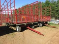 Pequea 918 Bale Wagons and Trailer