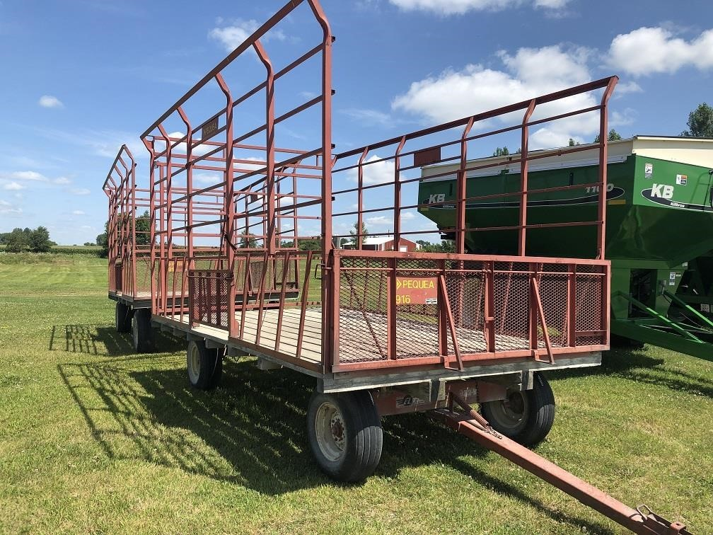 Pequea 916 Bale Wagons and Trailer