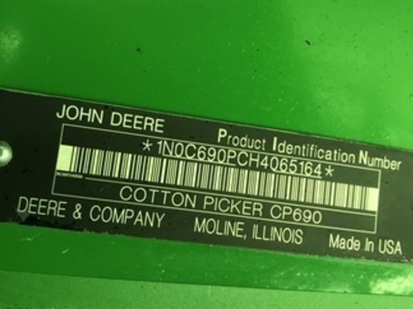 2017 John Deere CP690 Cotton