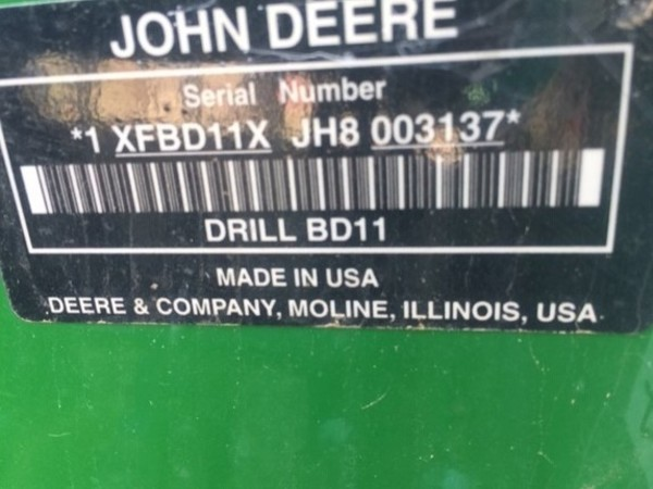 2017 John Deere BD1113 Drill
