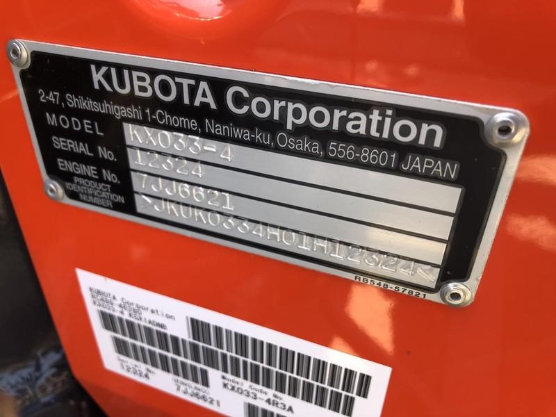 2018 Kubota KX033-4 Excavators and Mini Excavator
