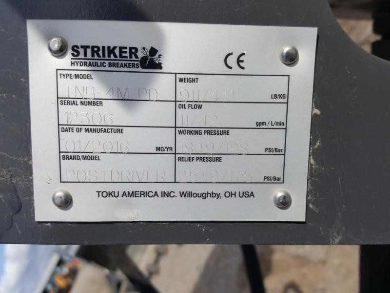 2017 Striker TNB-4M-PD Loader and Skid Steer Attachment
