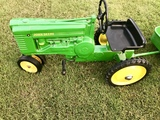 Original John Deere A Pedal Tractor w 2-Wheeled Trailer.