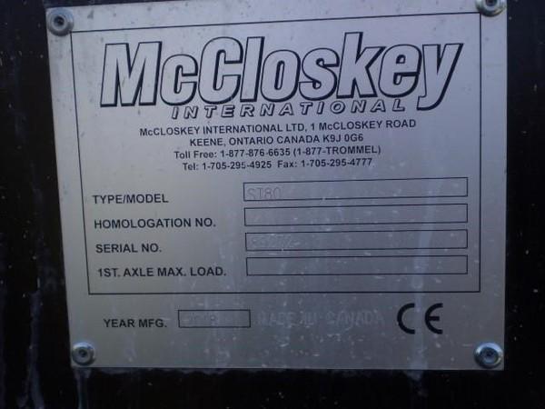 2018 McCloskey ST80 Miscellaneous