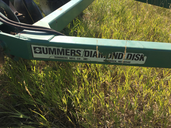 1997 Summers Manufacturing 18' Diamond Disk Disk