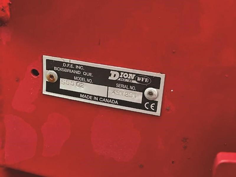 2014 Dion S55 Forage Blower