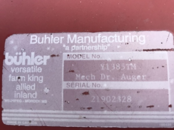 Buhler 1385 Augers and Conveyor