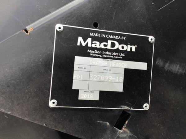 2018 MacDon FD140 Platform