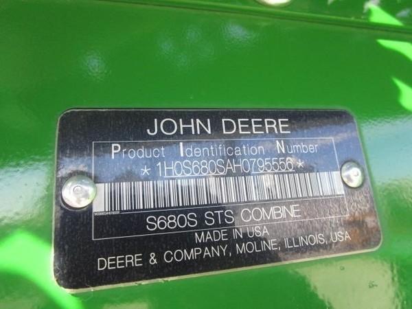 2017 John Deere S680 Combine