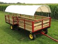 2019 Stoltzfus 8.5x18 Bale Wagons and Trailer