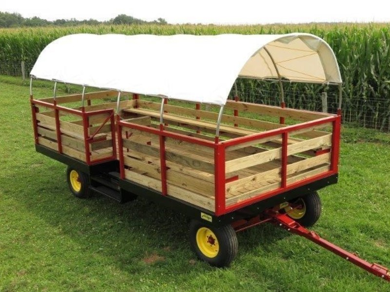 2019 Stoltzfus 8.5x20 Bale Wagons and Trailer