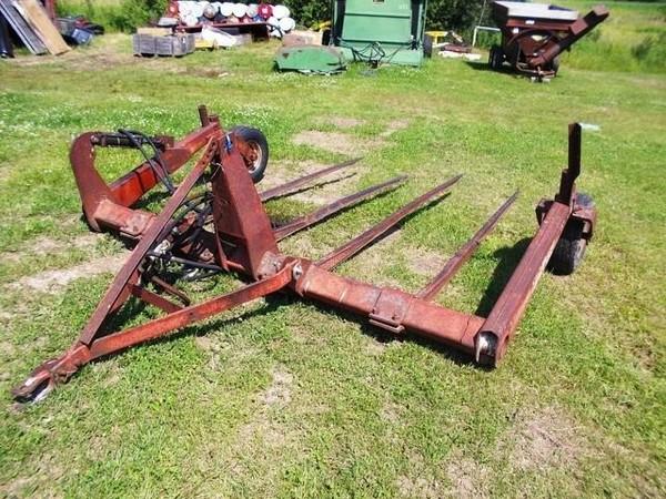 Hesston 10W Bale Wagons and Trailer