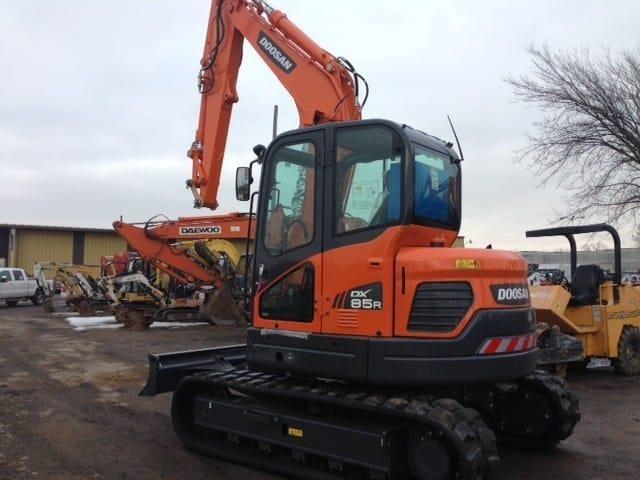2020 Doosan DX85R-3 Excavators and Mini Excavator