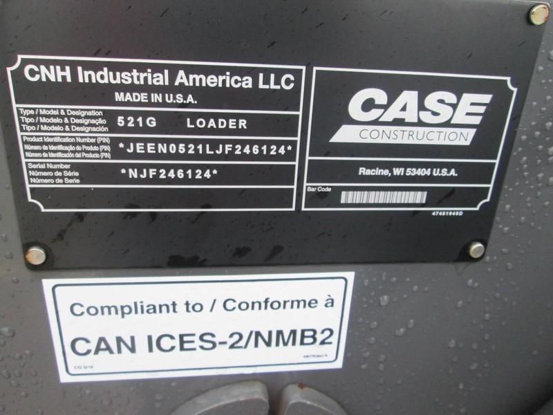 2019 Case 521G Wheel Loader
