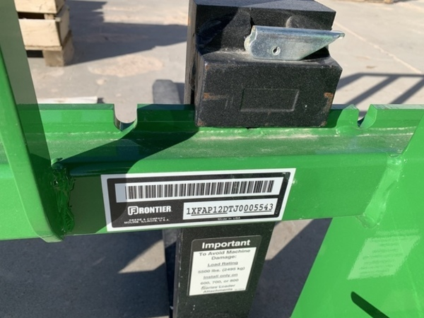2019 Frontier AP12D Loader and Skid Steer Attachment