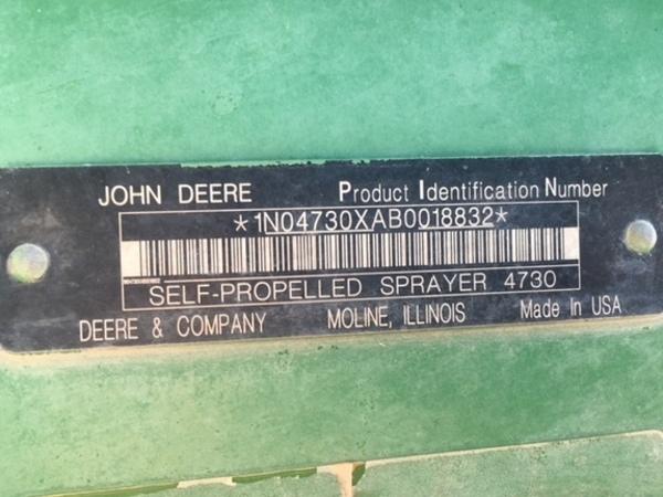 2011 John Deere 4730 Self-Propelled Sprayer