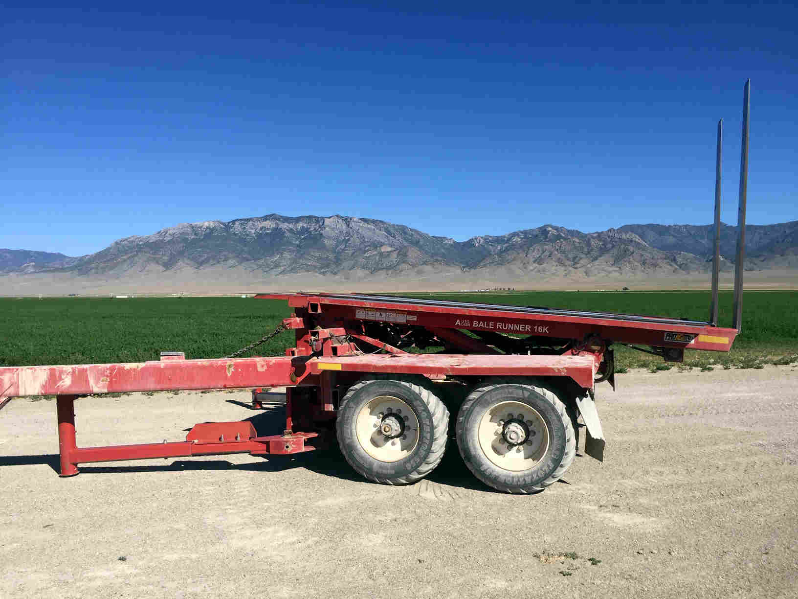 2004 ProAG 16K Bale Wagons and Trailer