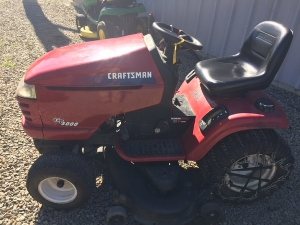 Craftsman Gt5000 Lawn Tractor Production Date Of 9 13 2004 Brand New Predator 22hp Engine Less Than 1 Hour On It Cranks First Try