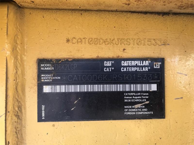 2015 Caterpillar D6K2 LGP Dozer